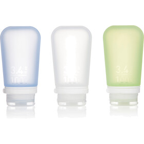 humangear GoToob+ 3-Pack Large 100ml Clear/Green/Blue